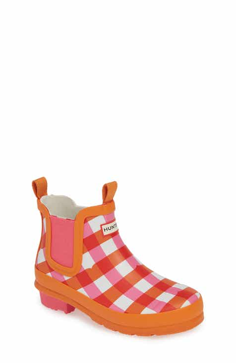 574f53a1985260 Hunter Original Gingham Chelsea Waterproof Rain Boot (Little Kid   Big Kid)