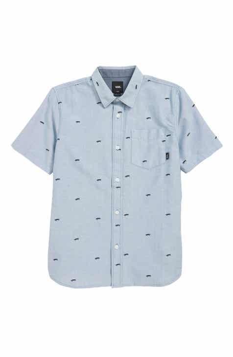 111116aaa2 Vans Houser Woven Shirt (Big Boys)