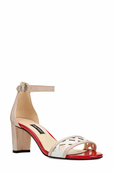 14e41aed6ad Nine West Paisley Perforated Ankle Strap Sandal (Women)