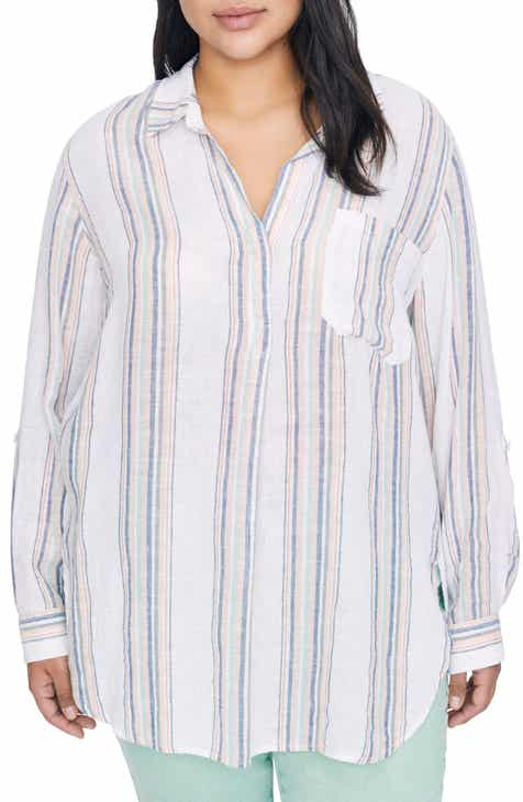 a9df3bbd91033 Sanctuary Miles Multistripe Tunic Top (Plus Size)