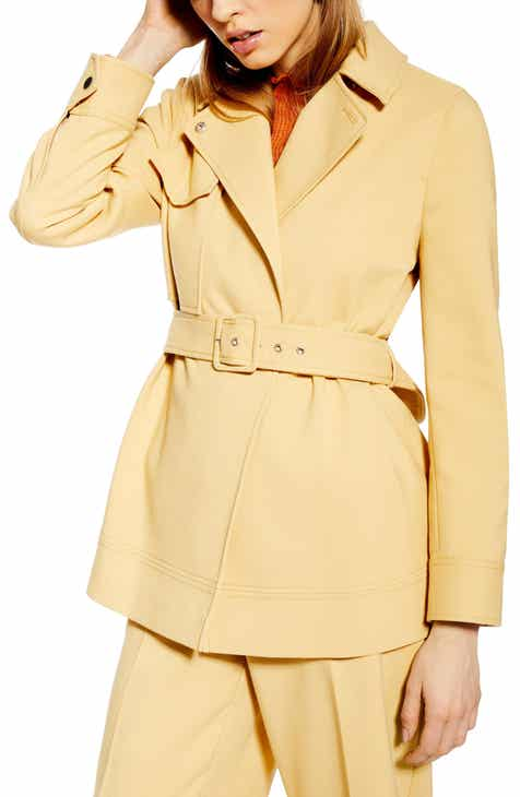Topshop Belted Jacket by TOPSHOP