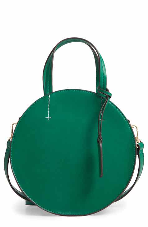 4a22b32ebef Sole Society Palermo Canteen Faux Leather Circle Crossbody Bag