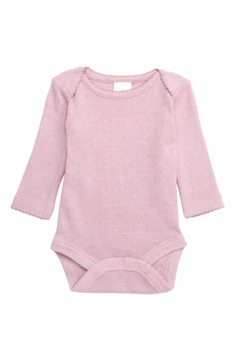 9f3a395030d1 Mini Boden Supersoft Pointelle Bodysuit (Baby   Toddler Girls)