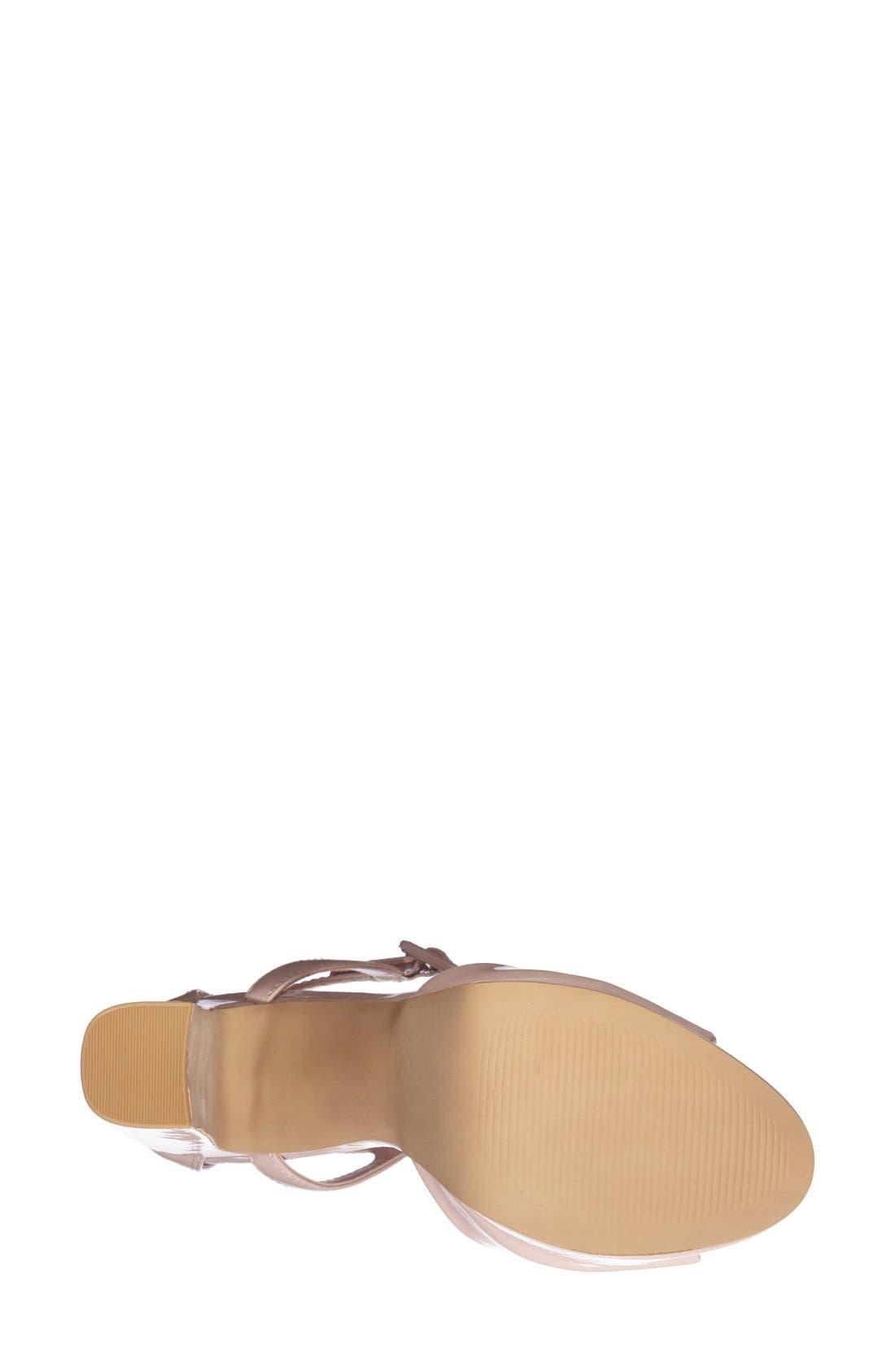 Alternate Image 4  - Topshop 'Lena' Ankle Strap Platform Sandal (Women)
