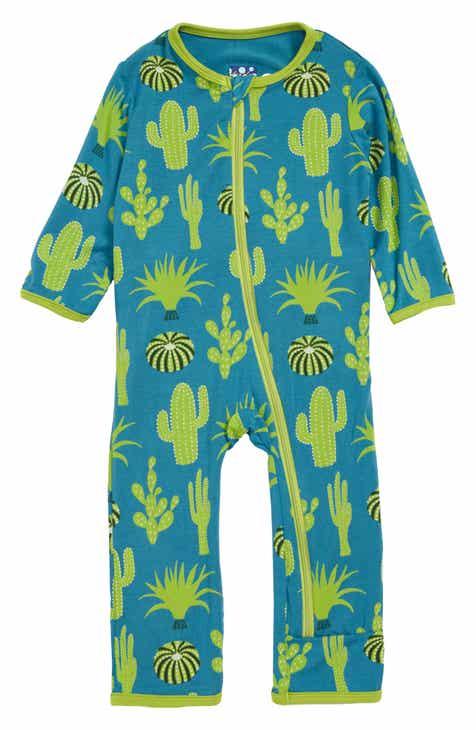 471603512f289 Kickee Pants Cactus Print Zip Romper (Baby)