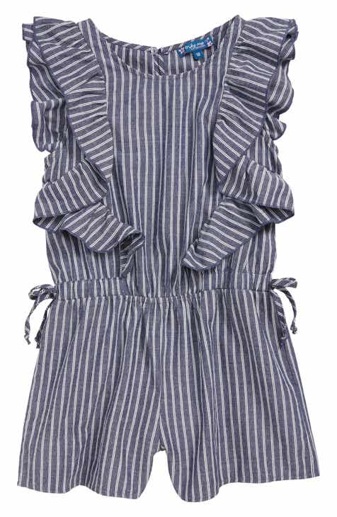 4e030f9abd6 Truly Me Stripe Ruffle Romper (Big Girls)