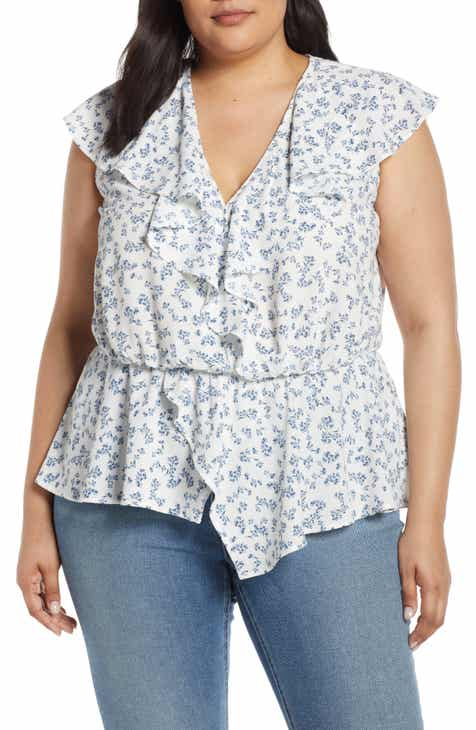 a6a75027c9 STATE Afternoon Bouquet Flounce Peplum Top (Plus Size)