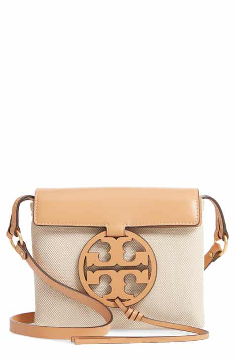 69e88a7a761 Tory Burch Miller Canvas   Leather Crossbody Bag