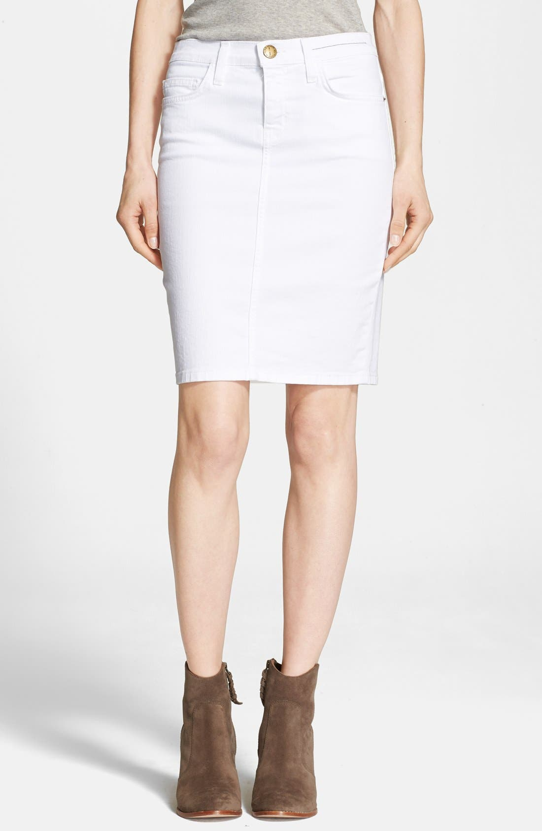 Alternate Image 1 Selected - Current/Elliott 'The Stiletto' Denim Pencil Skirt