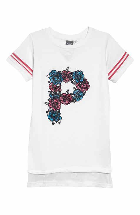 640758408f5a PUMA Glitter Logo T-Shirt Dress (Big Girls)