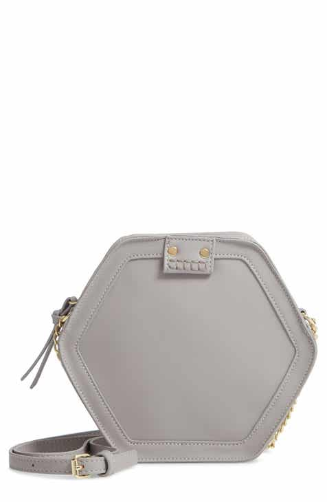 c212eb0bbcdf Leith Hexagon Faux Leather Crossbody Bag