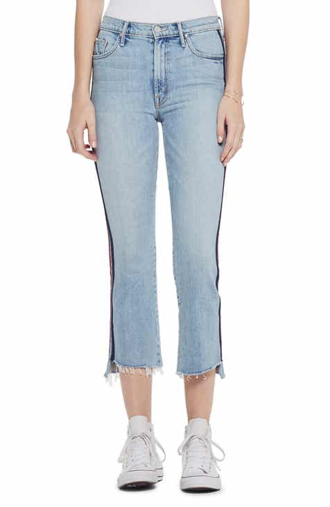 562068d0a322c MOTHER The Insider High Waist Crop Step Fray Hem Bootcut Jeans