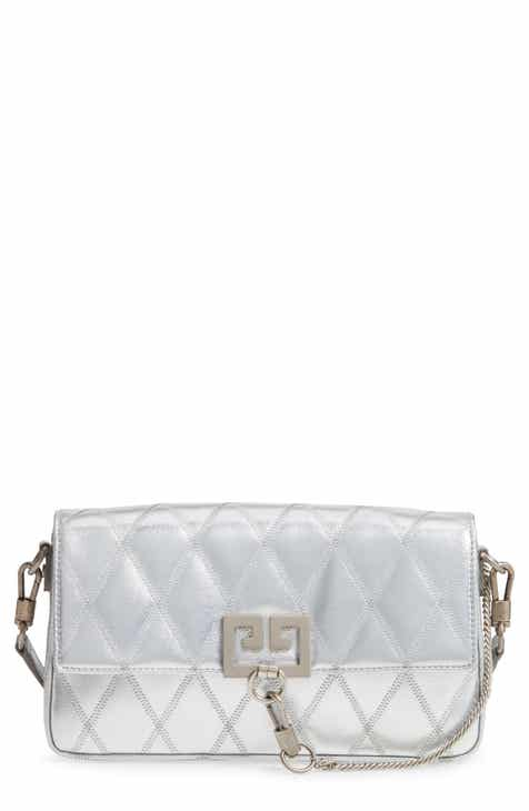 7b640904a3 Givenchy Small Charm Metallic Quilted Shoulder Bag