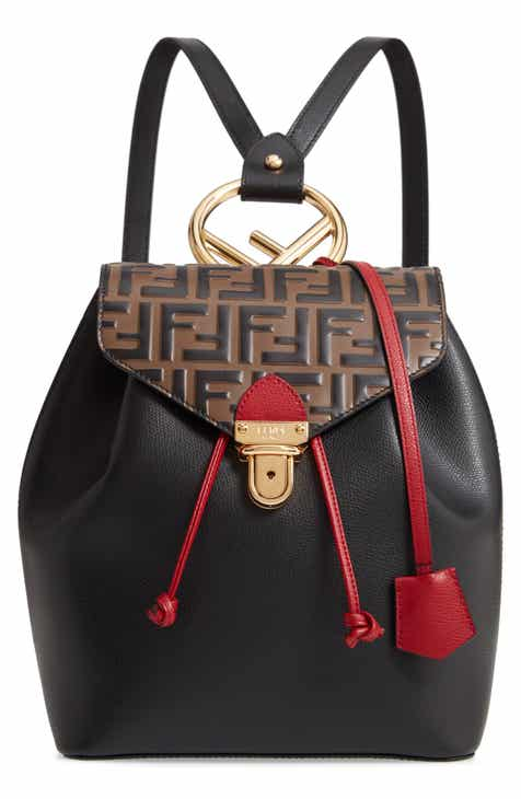 b99404bfc3 Fendi Cruise Double-F Logo Leather Backpack