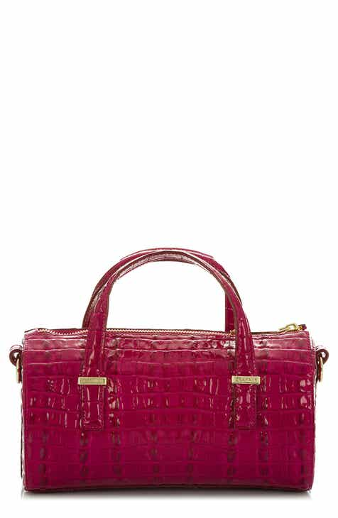 6fe995398f Brahmin Claire Croc Embossed Leather Top Handle Bag