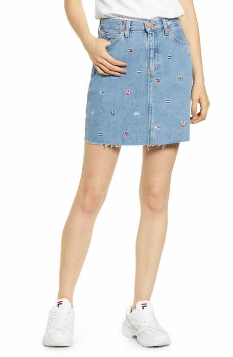 PAIGE Aideen Destructed Denim Miniskirt by PAIGE