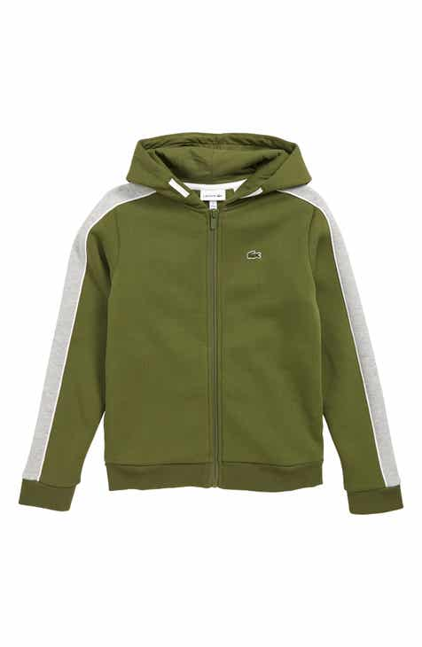 06a087944dd Lacoste Brushed Fleece Full Zip Hoodie (Big Boys)