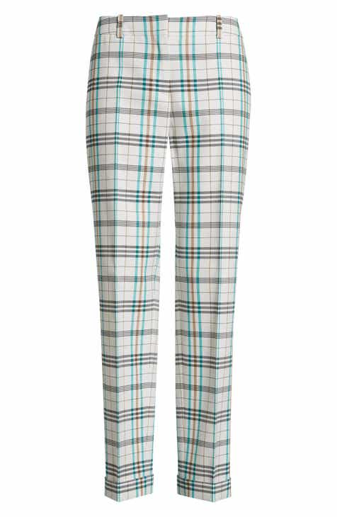 BOSS Tocanes Check Plaid Ankle Trousers by BOSS HUGO BOSS