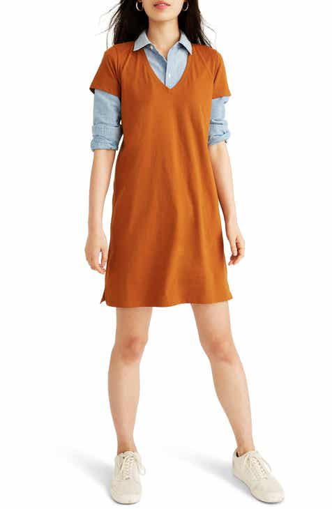 Madewell Northside V-Neck T-Shirt Dress (Regular & Plus Size)