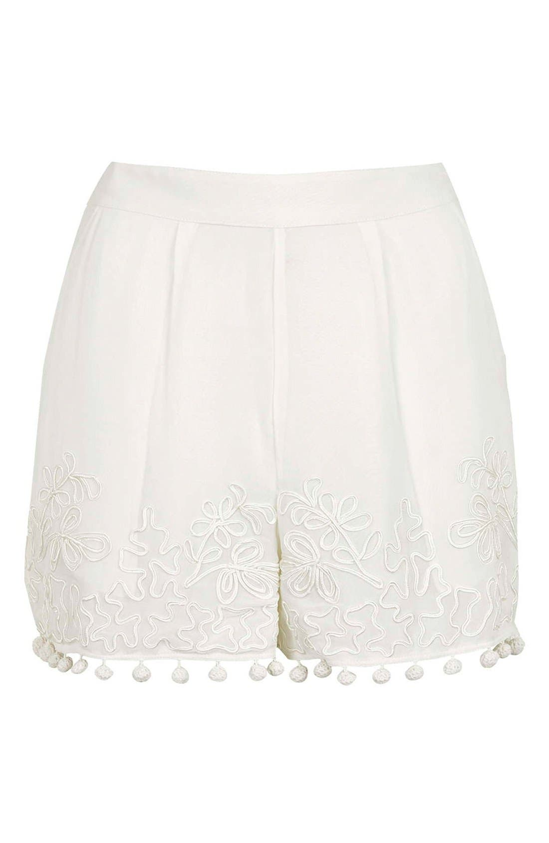 Alternate Image 3  - Topshop Pompom Shorts