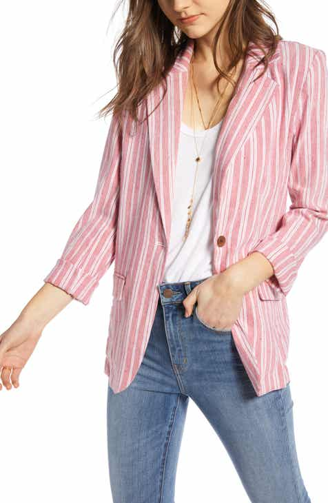 Treasure & Bond Stripe Relaxed Blazer by TREASURE AND BOND