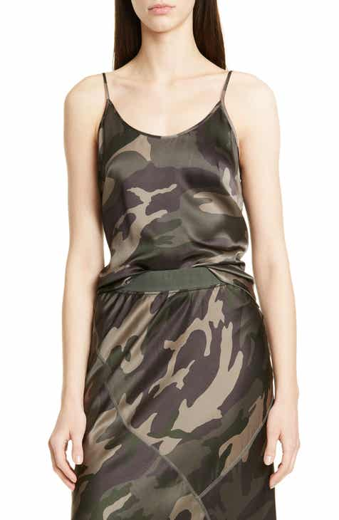 73866508a253 ATM Anthony Thomas Melillo Camo Print Silk Camisole