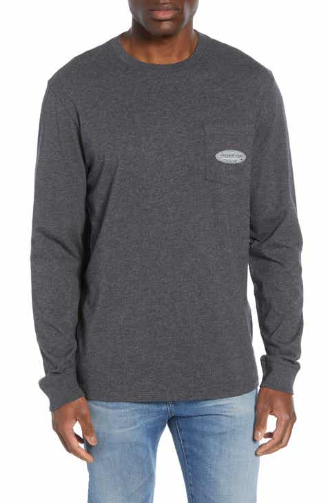 0293f40f vineyard vines Surf Logo Long Sleeve Pocket T-Shirt