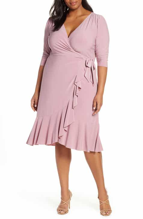 22ada35f104 Kiyonna Whimsy Wrap Dress (Plus Size)