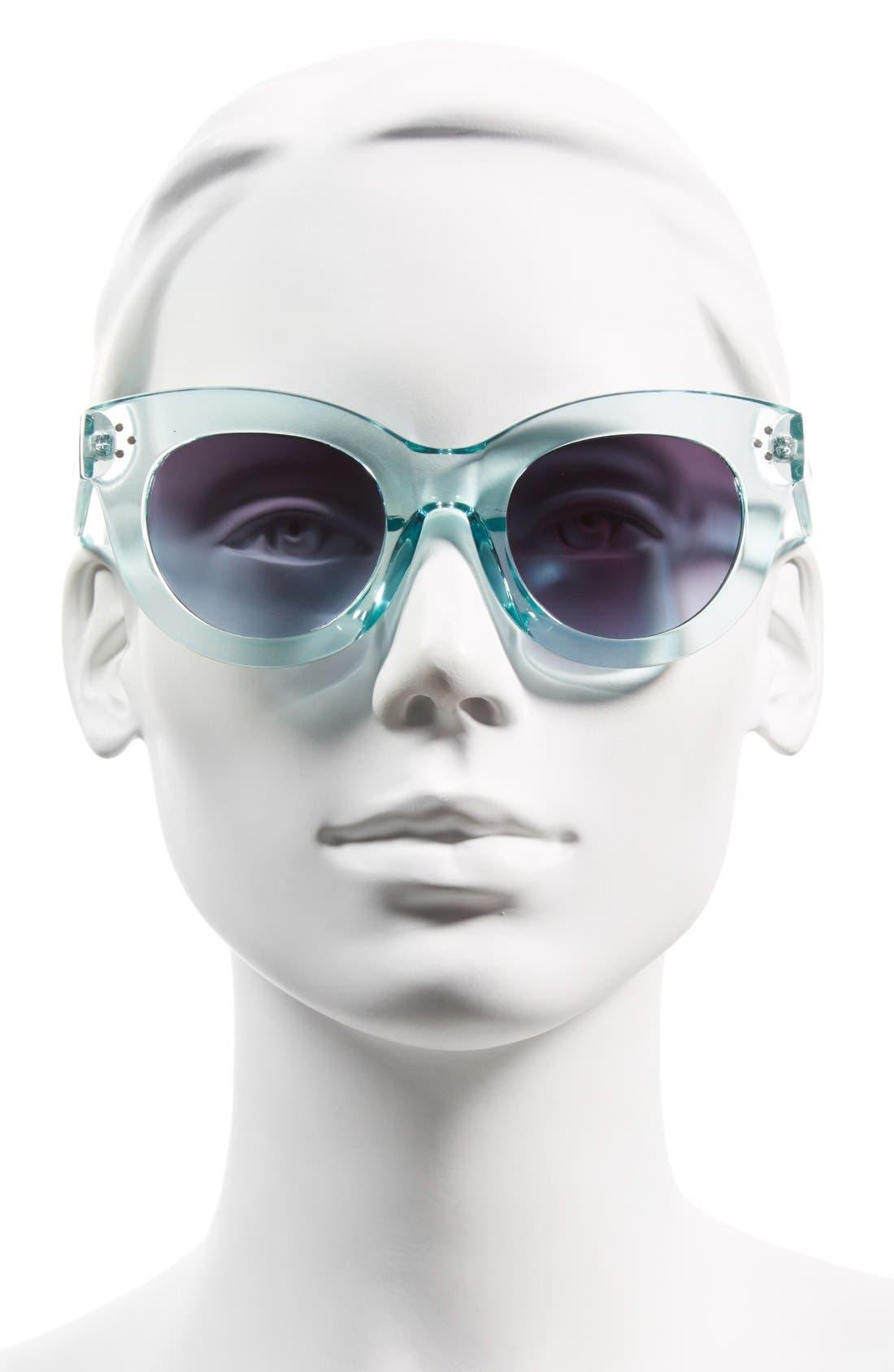 Alternate Image 2  - Steve Madden 49mm Translucent Cat Eye Sunglasses