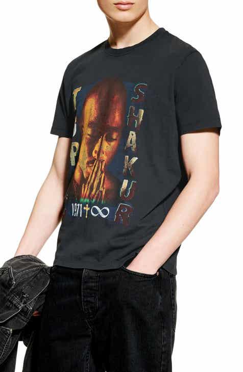 7dcb531dc99 Topman Tupac Graphic T-Shirt