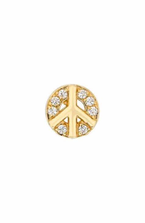 d0b763d1b55 Mini Mini Jewels Diamond Icon Peace Sign Earring
