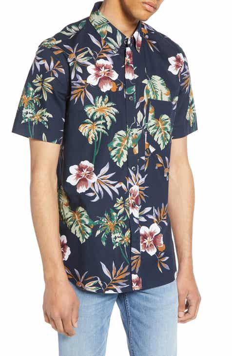 a79ae7ee French Connection Hawaii Print Sport Shirt