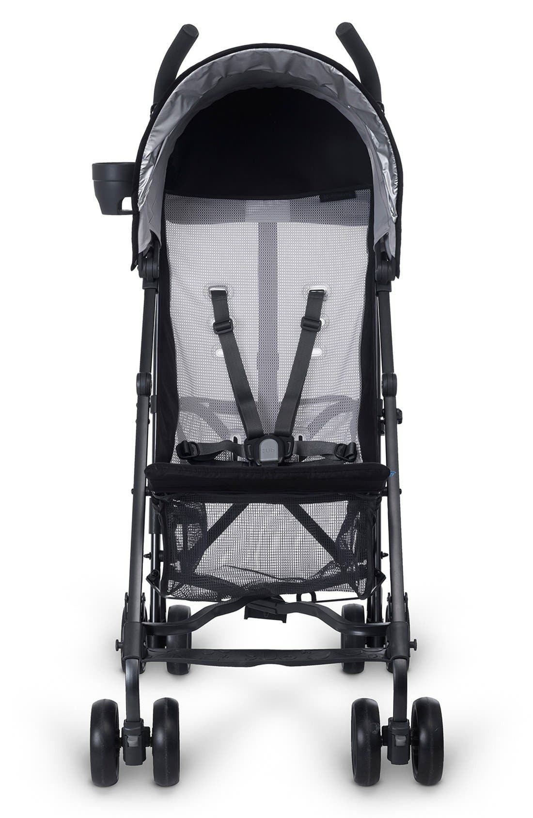 G-LITE - Black Frame Stroller,                             Alternate thumbnail 3, color,                             Jake Black/ Carbon