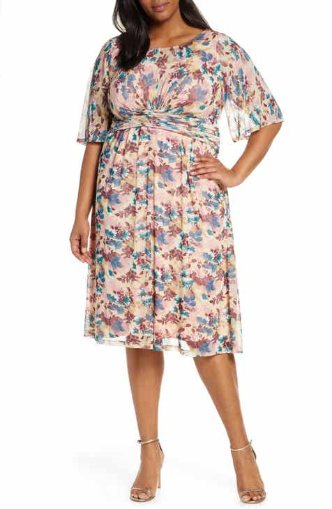 Kiyonna Katarina Floral Party Dress (Plus Size)