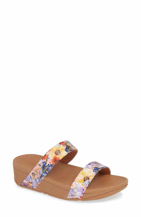 2649d10ac FitFlop Lottie Flower Crush Slide Sandal (Women)