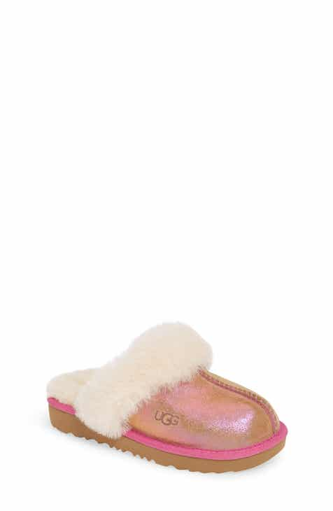 e10f02fe2606 UGG® Cozy II Shimmer Genuine Shearling Slipper (Toddler, Little Kid & Big  Kid)