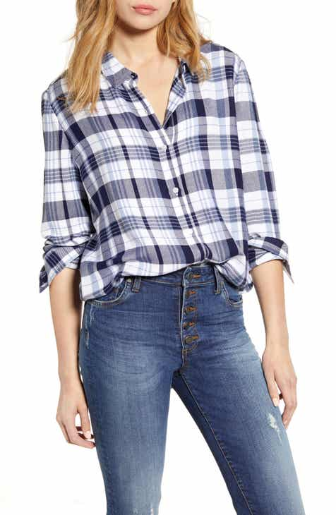 4e3ed7666047 Caslon® Plaid Shirt (Regular & Petite)