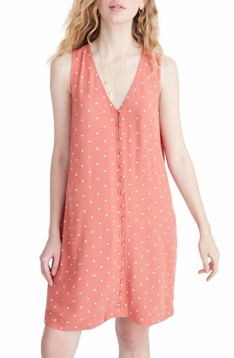 Madewell Polka Dot Heather Button Front Dress