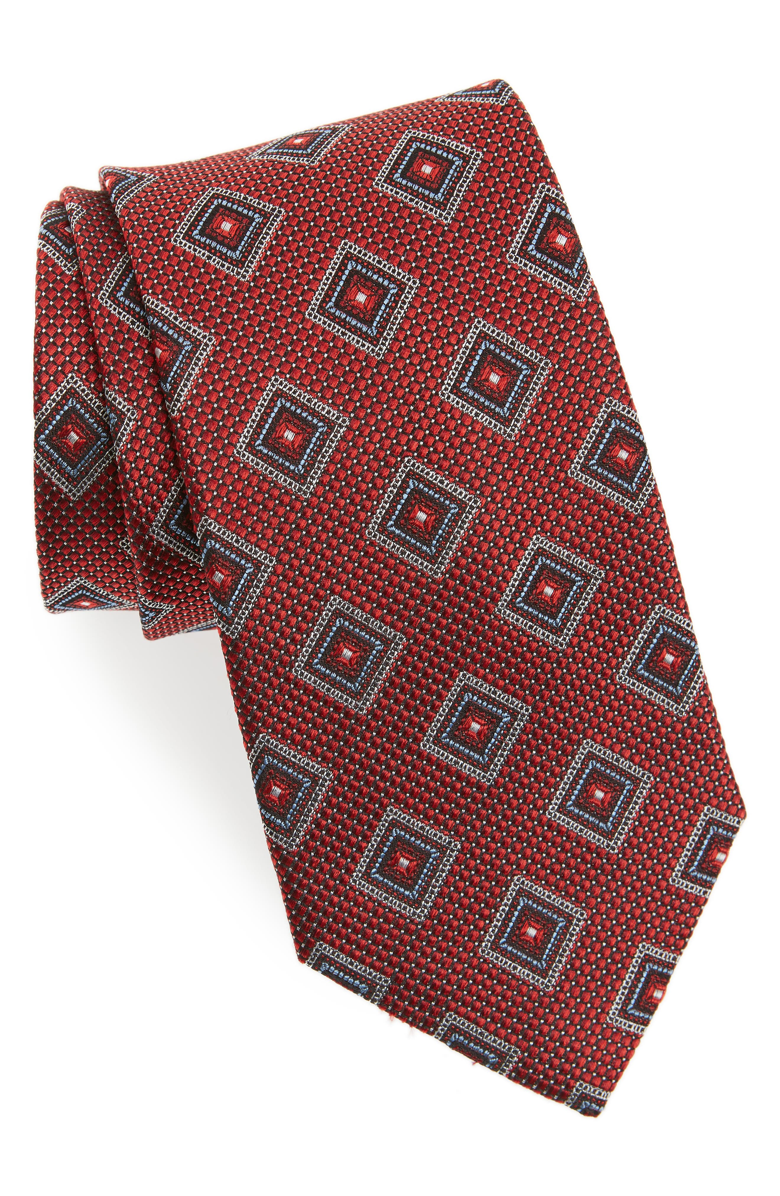 Nordstrom Boy/'s Blue Pink /'Georgetown Neat/' Geometric Silk Bow Tie One Size