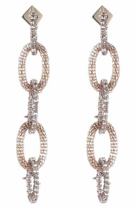 d09f03811 Alexis Bittar Crystal Encrusted Chain Drop Earrings