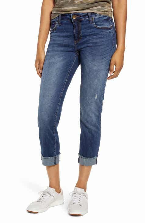 b2fa5b4122 KUT from the Kloth Amy Frayed Crop Straight Leg Jeans (Saviour)