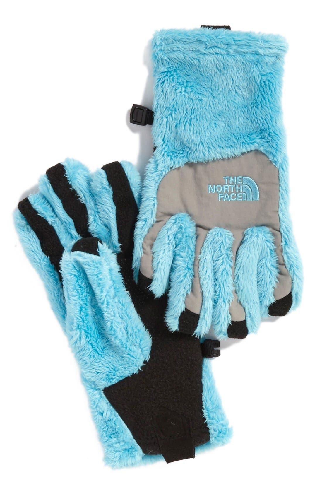 'Denali E-Tip' Thermal Gloves,                         Main,                         color, Fortuna Blue/ Metallic Silver