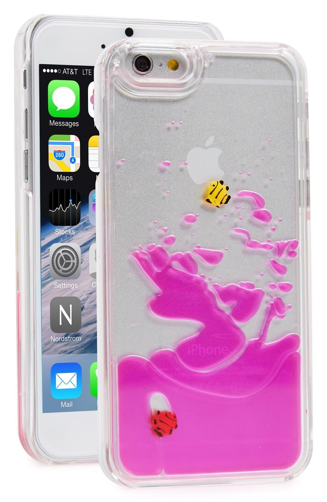 Alternate Image 1 Selected - Skinnydip 'Pink Fish' Liquid iPhone 6 & 6s Case