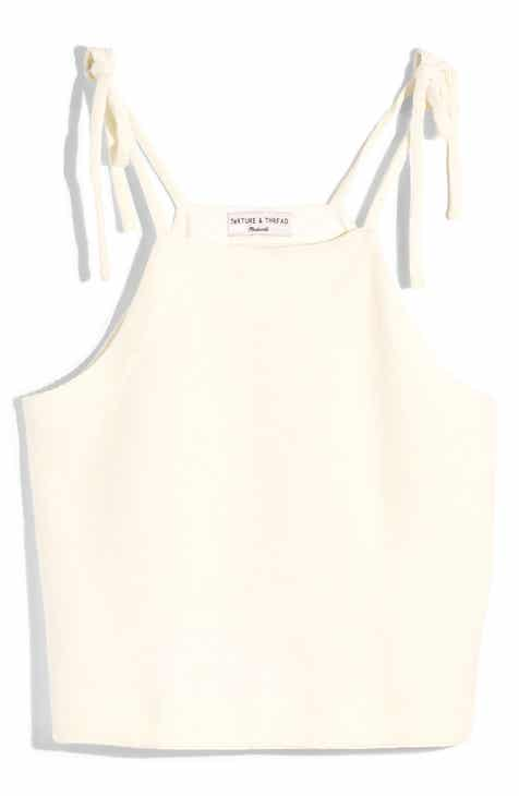 Madewell Texture & Thread Tie Shoulder Tank Top