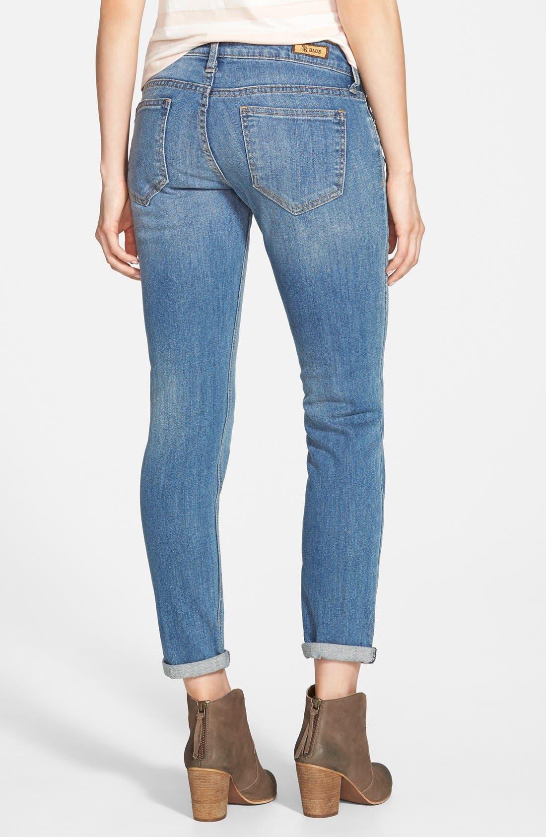 Alternate Image 2  - STS Blue 'Joey' Boyfriend Jeans (Medium Wash)