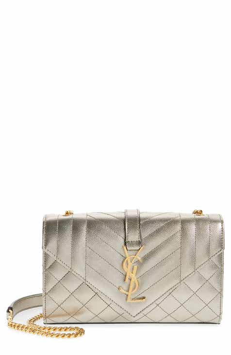 63a3ac08a444 Saint Laurent Medium Monogramme Quilted Leather Shoulder Bag