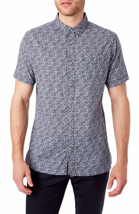 6428830770349b 7 Diamonds Never Surrender Slim Fit Short Sleeve Button-Down Sport Shirt
