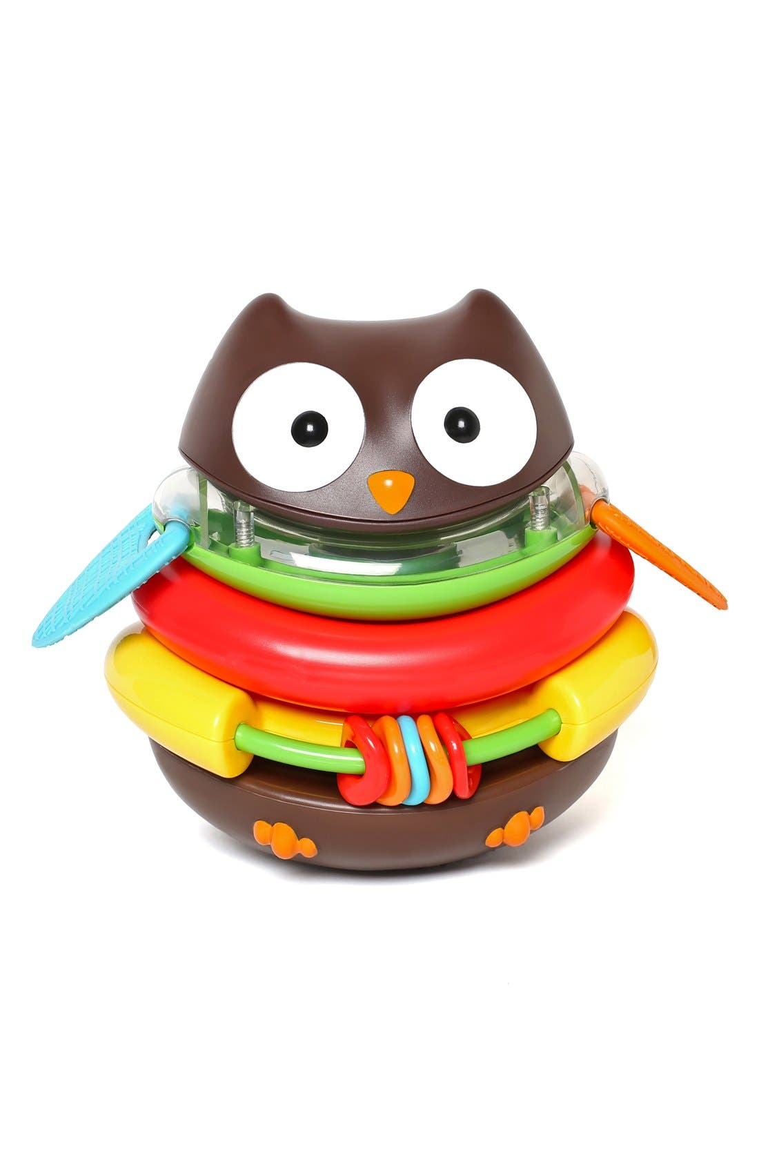 'Explore & More' Rocking Owl Stacker,                             Main thumbnail 1, color,                             Multi