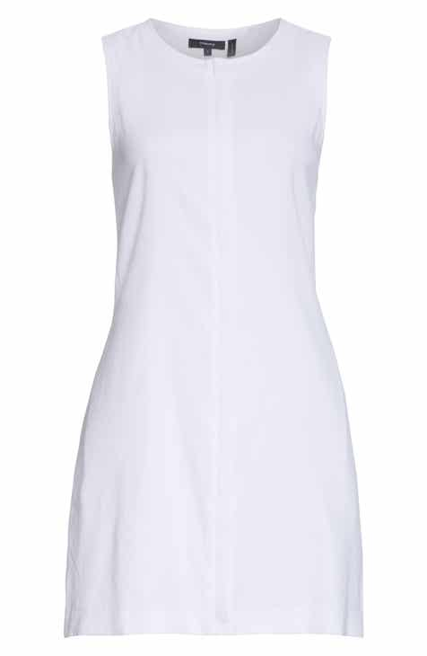 1457dd09 Theory Easy Crew Stretch Linen Blend Shift Dress