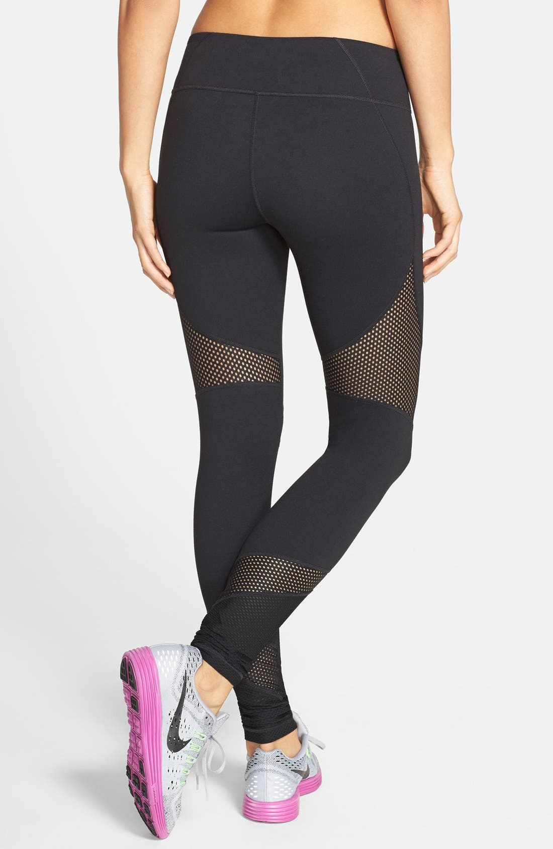 'Live In - Out of Bounds' Slim Fit Leggings,                             Alternate thumbnail 2, color,                             Black